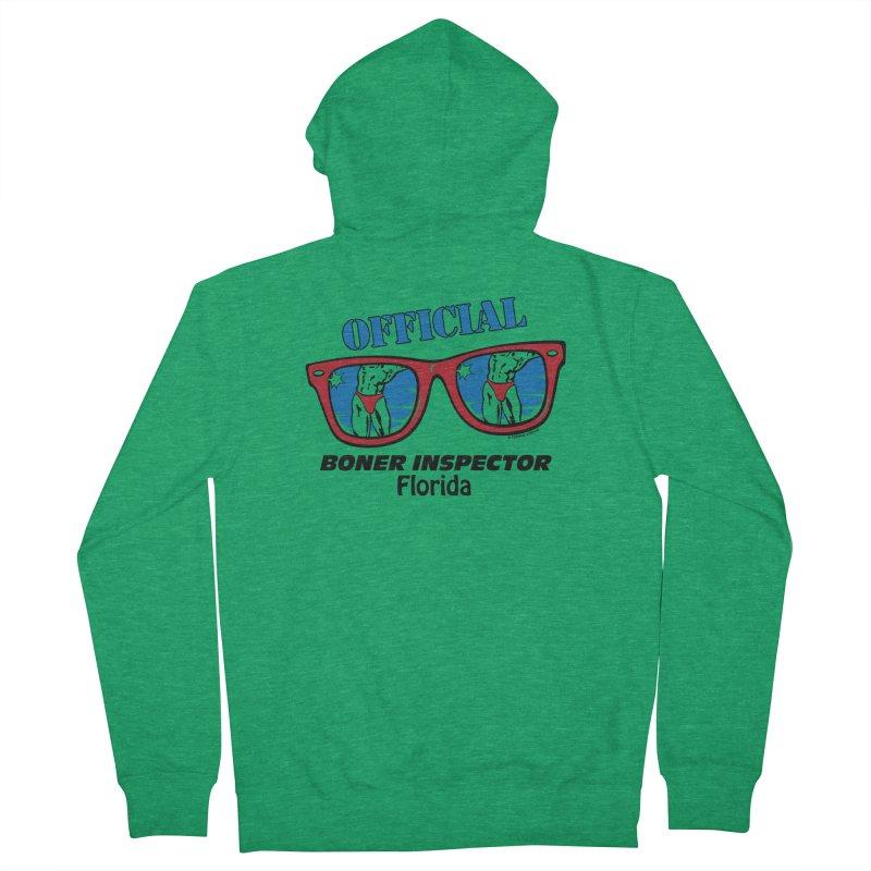 OFFICIAL BONER INSPECTOR Florida Women's Zip-Up Hoody by Teenage Stepdad Shop   90s Inspired Apparel