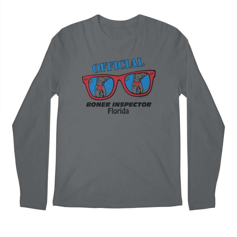 OFFICIAL BONER INSPECTOR Florida Men's Longsleeve T-Shirt by Teenage Stepdad