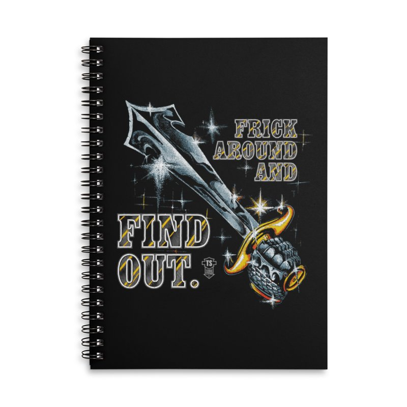 FRICK AROUND AND FIND OUT Accessories Notebook by Teenage Stepdad Shop | 90s Inspired Apparel