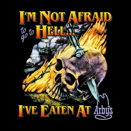Design for NOT AFRAID TO GO TO HELL