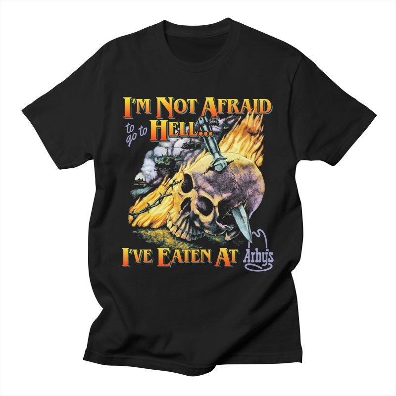 NOT AFRAID TO GO TO HELL Men's T-Shirt by Teenage Stepdad Shop   90s Inspired Apparel