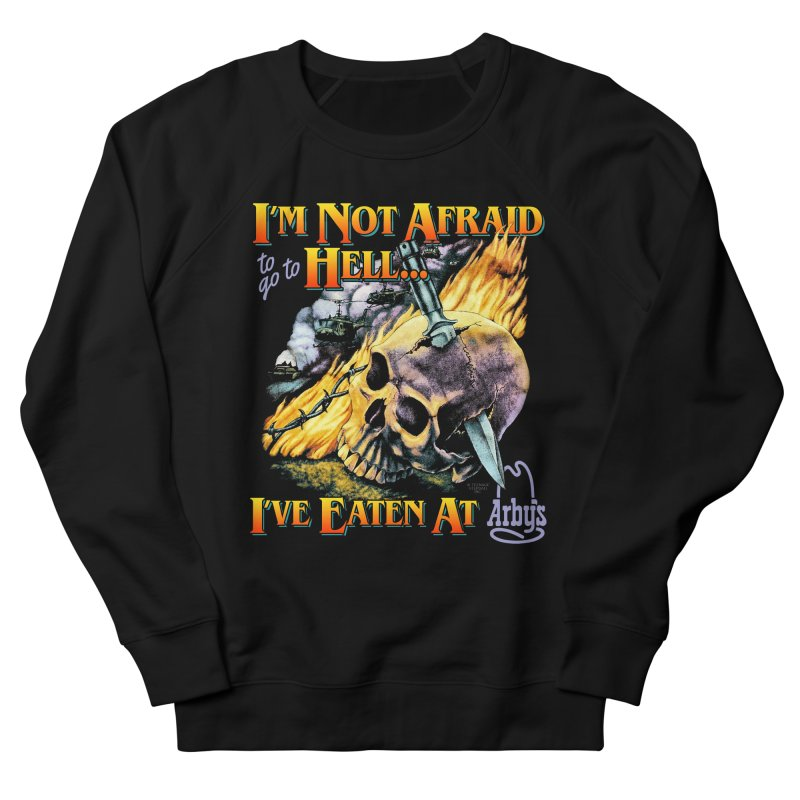 NOT AFRAID TO GO TO HELL Men's Sweatshirt by Teenage Stepdad Shop | 90s Inspired Apparel