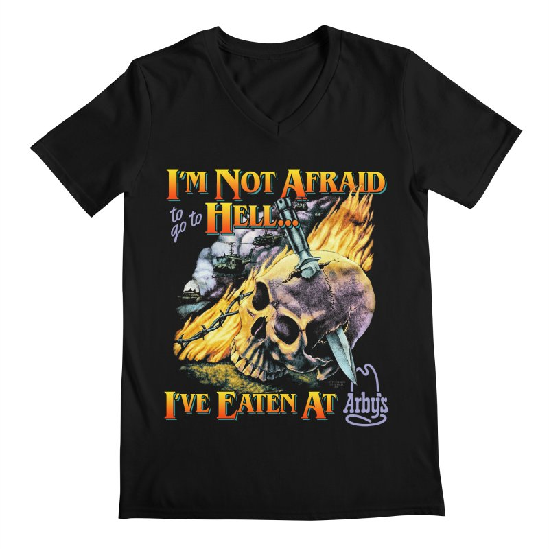 NOT AFRAID TO GO TO HELL Men's V-Neck by Teenage Stepdad