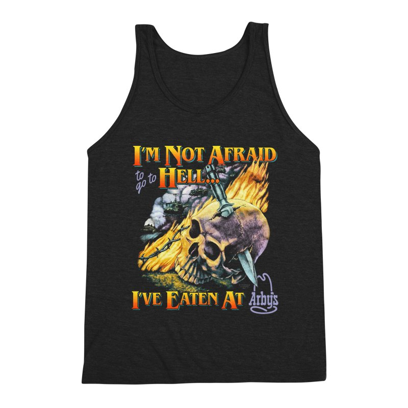 NOT AFRAID TO GO TO HELL Men's Tank by Teenage Stepdad
