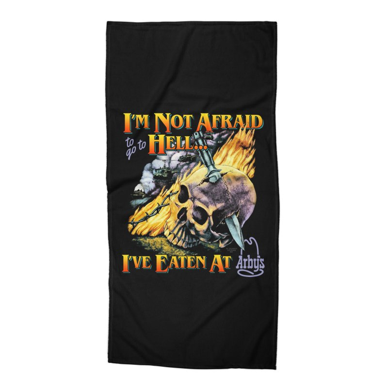 NOT AFRAID TO GO TO HELL Accessories Beach Towel by Teenage Stepdad