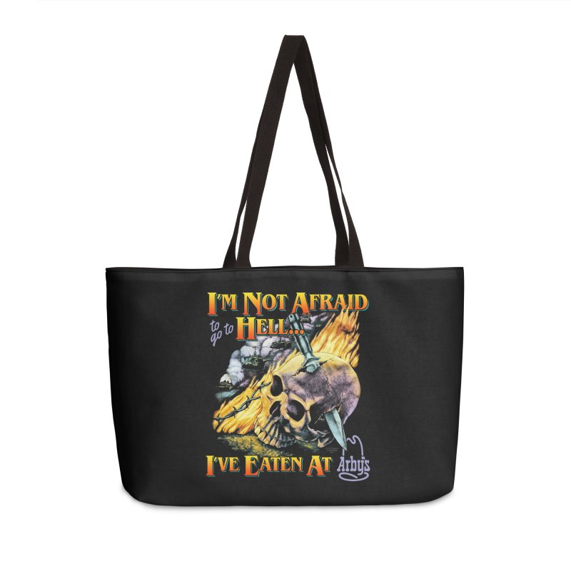 NOT AFRAID TO GO TO HELL Accessories Bag by Teenage Stepdad