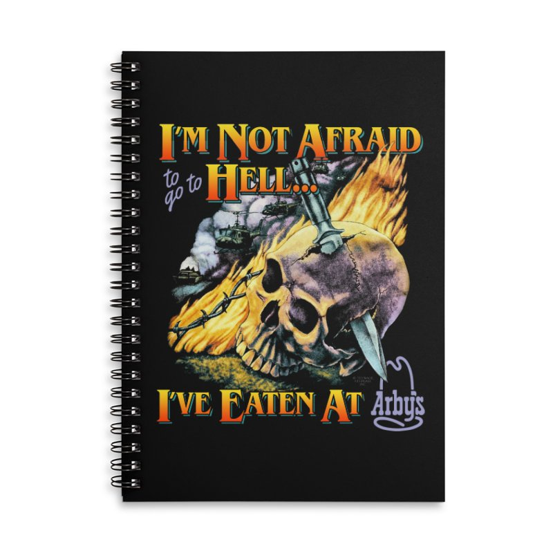 NOT AFRAID TO GO TO HELL Accessories Notebook by Teenage Stepdad Shop | 90s Inspired Apparel