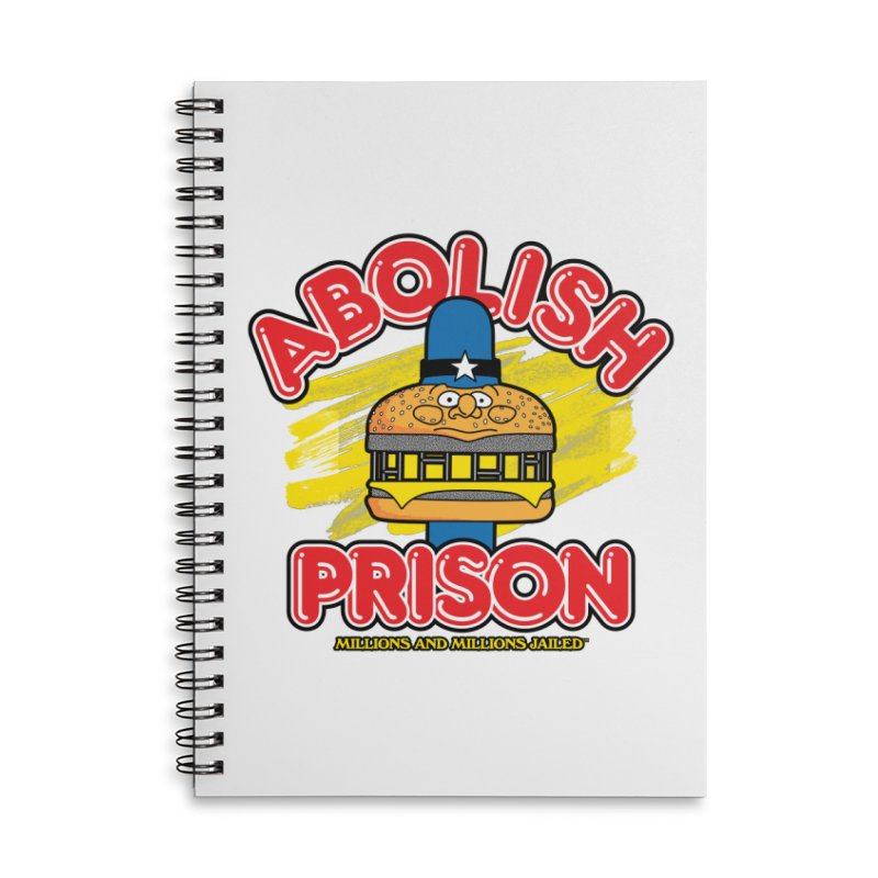 ABOLISH PRISON (for The Bail Project) Accessories Notebook by Teenage Stepdad Shop | 90s Inspired Apparel