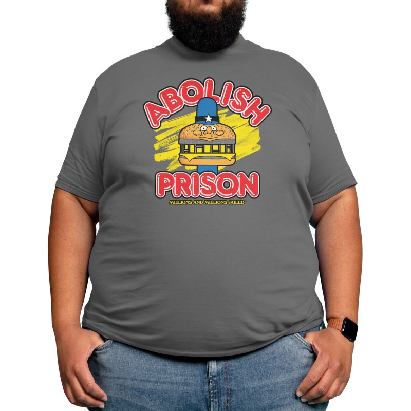 ABOLISH PRISON (for The Bail Project) Men's T-Shirt by Teenage Stepdad Shop   90s Inspired Apparel
