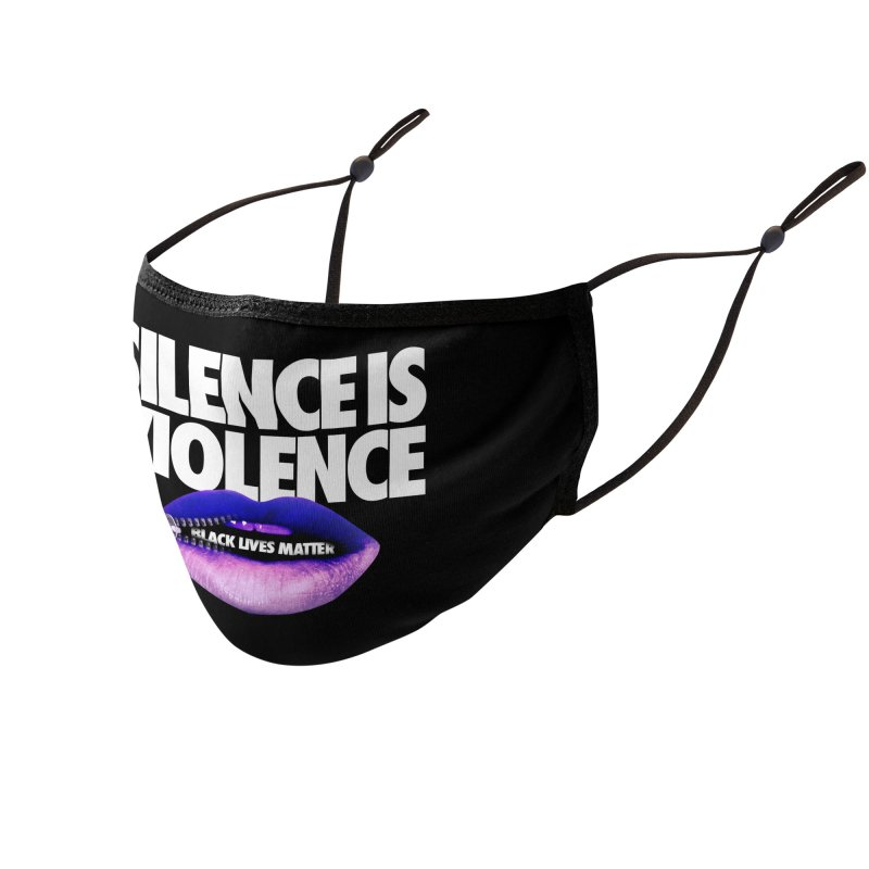 SILENCE IS VIOLENCE (for Black Lives Matter) Accessories Face Mask by Teenage Stepdad Shop   90s Inspired Apparel