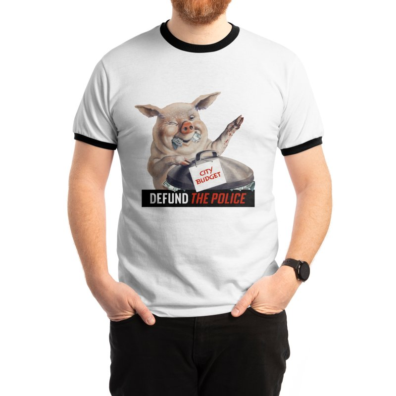 DEFUND THE POLICE (for Black Lives Matter) Men's T-Shirt by Teenage Stepdad