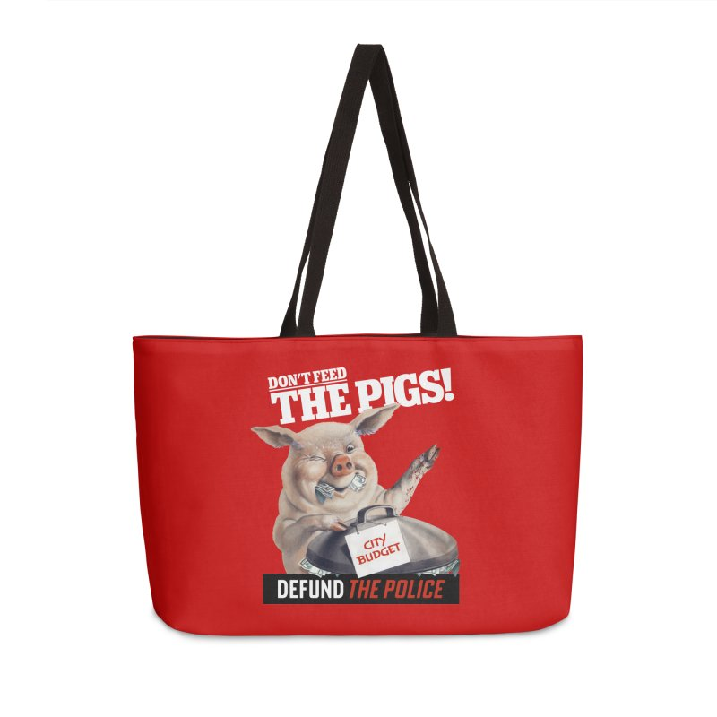 DEFUND THE POLICE (for Black Lives Matter) Accessories Bag by Teenage Stepdad