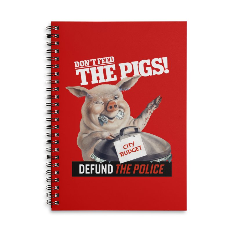 DEFUND THE POLICE (for Black Lives Matter) Accessories Notebook by Teenage Stepdad Shop | 90s Inspired Apparel