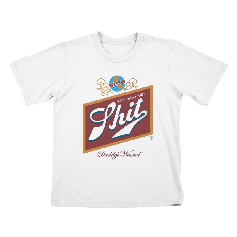 DADDY'S WASTED Kids T-Shirt by Teenage Stepdad Shop | 90s Inspired Apparel