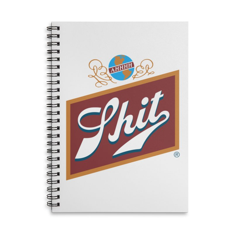 AHHHH SHIT Accessories Notebook by Teenage Stepdad Shop | 90s Inspired Apparel