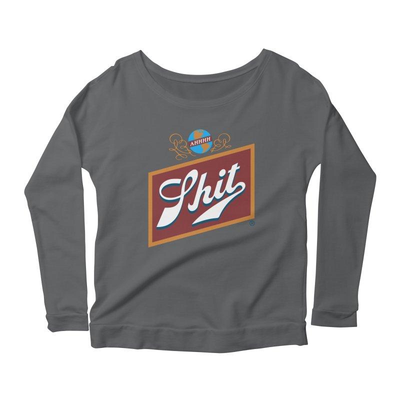 AHHHH SHIT Women's Longsleeve T-Shirt by Teenage Stepdad Shop   90s Inspired Apparel