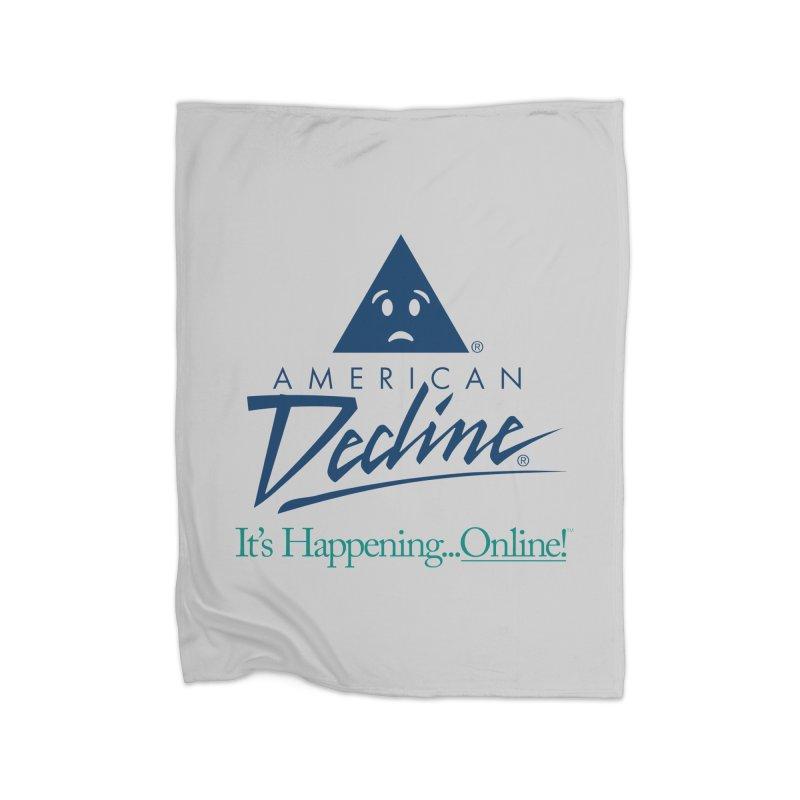 AMERICAN DECLINE Home Blanket by Teenage Stepdad Shop | 90s Inspired Apparel