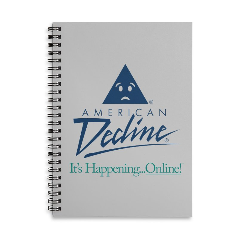 AMERICAN DECLINE Accessories Notebook by Teenage Stepdad Shop | 90s Inspired Apparel
