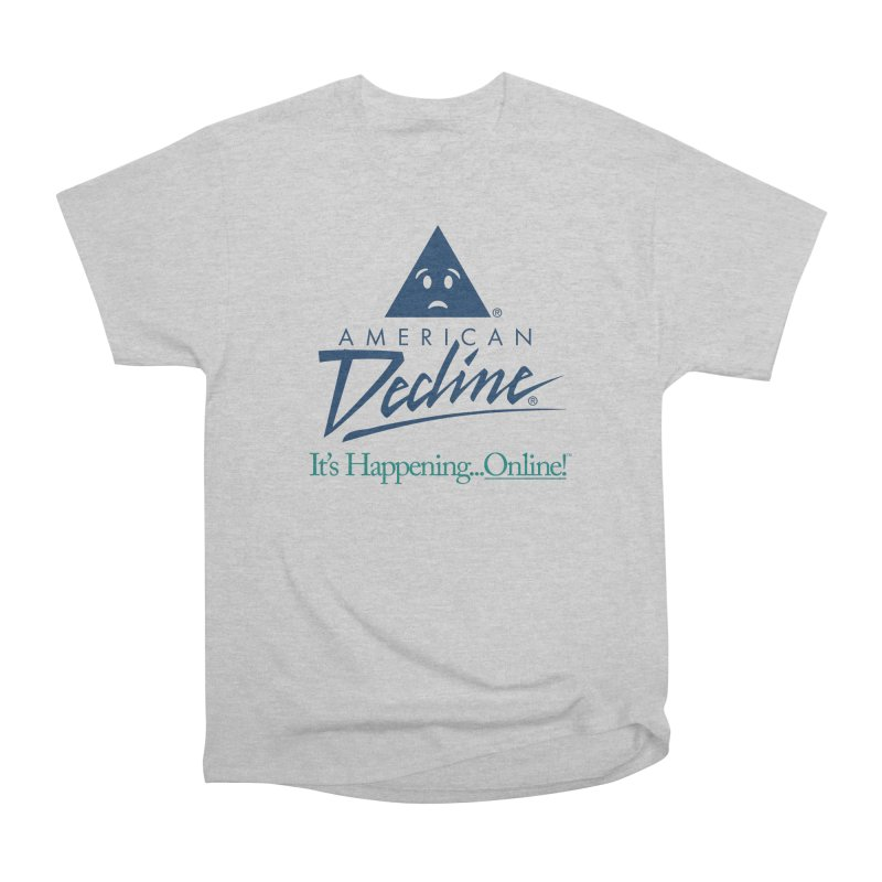 AMERICAN DECLINE Men's T-Shirt by Teenage Stepdad Shop | 90s Inspired Apparel