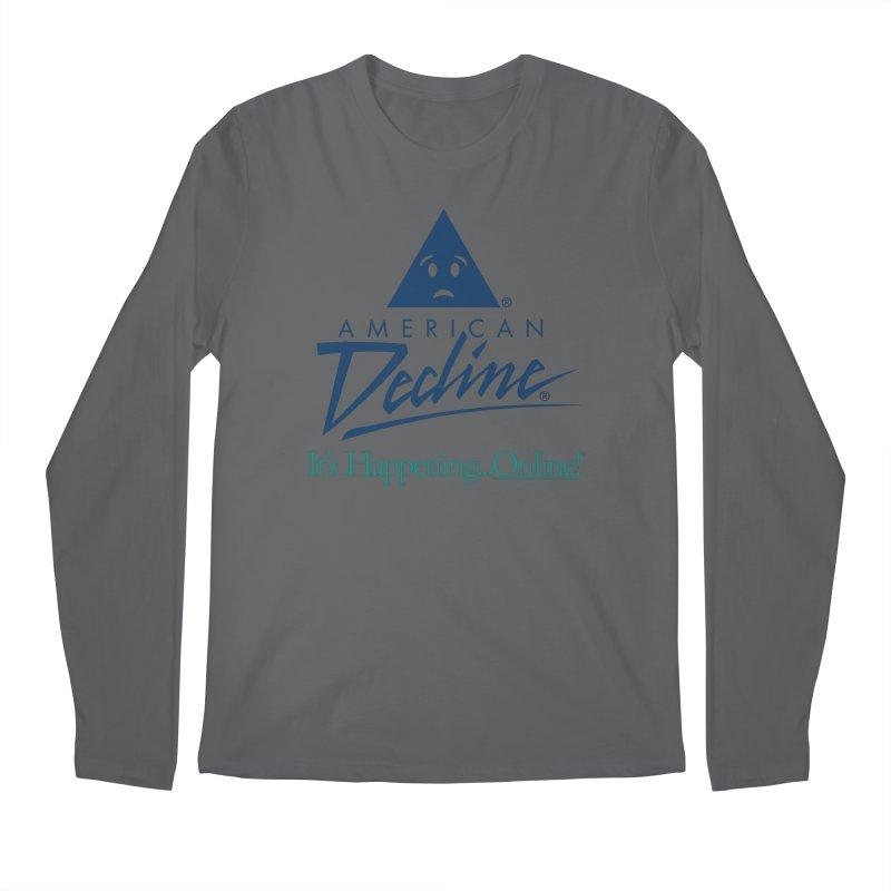 AMERICAN DECLINE Men's Longsleeve T-Shirt by Teenage Stepdad Shop | 90s Inspired Apparel