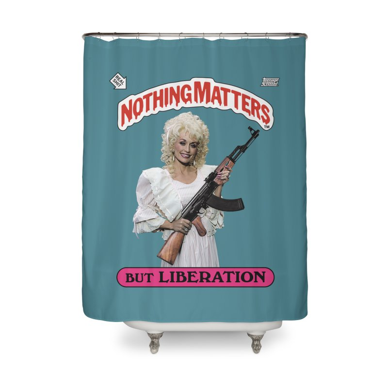 NOTHING MATTERS Home Shower Curtain by Teenage Stepdad Shop | 90s Inspired Apparel