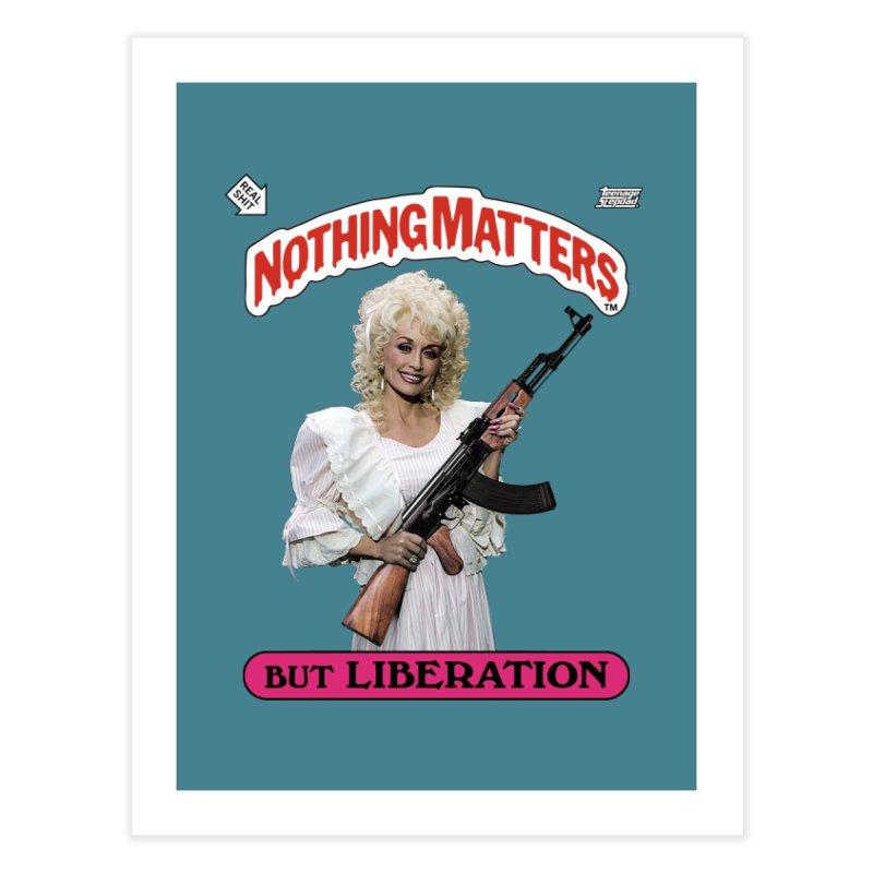 NOTHING MATTERS Home Fine Art Print by Teenage Stepdad Shop   90s Inspired Apparel