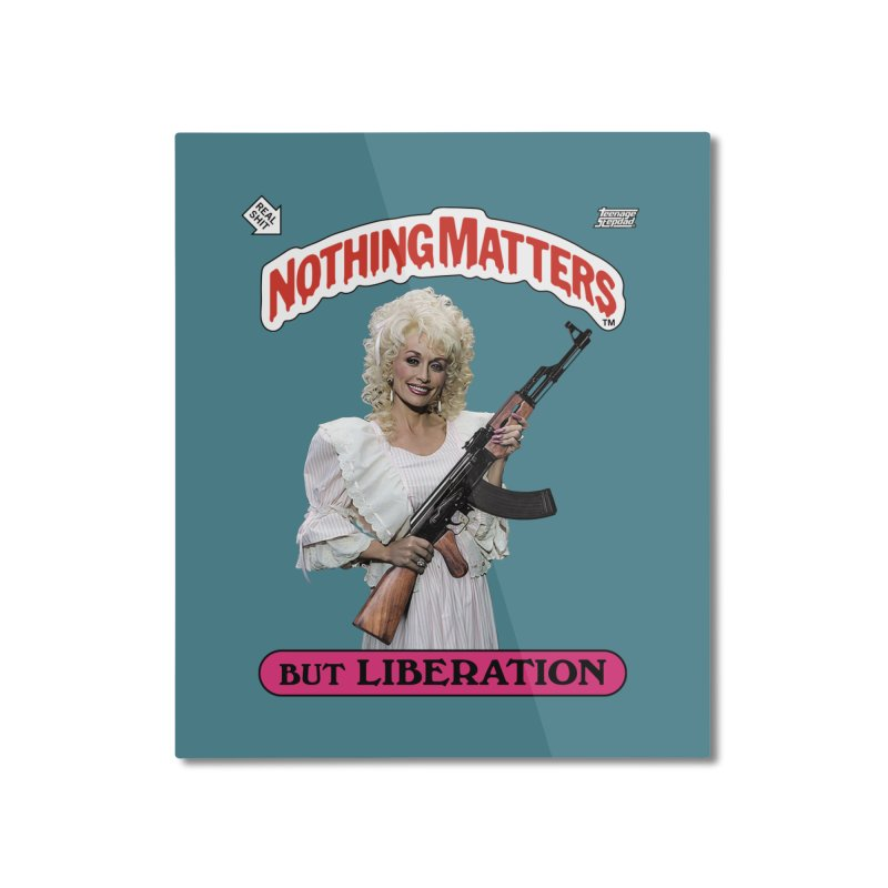NOTHING MATTERS Home Mounted Aluminum Print by Teenage Stepdad Shop   90s Inspired Apparel