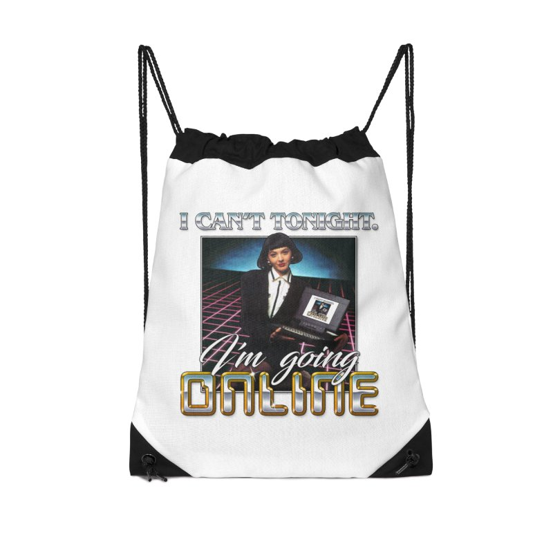 CAN'T TONIGHT Accessories Drawstring Bag Bag by Teenage Stepdad