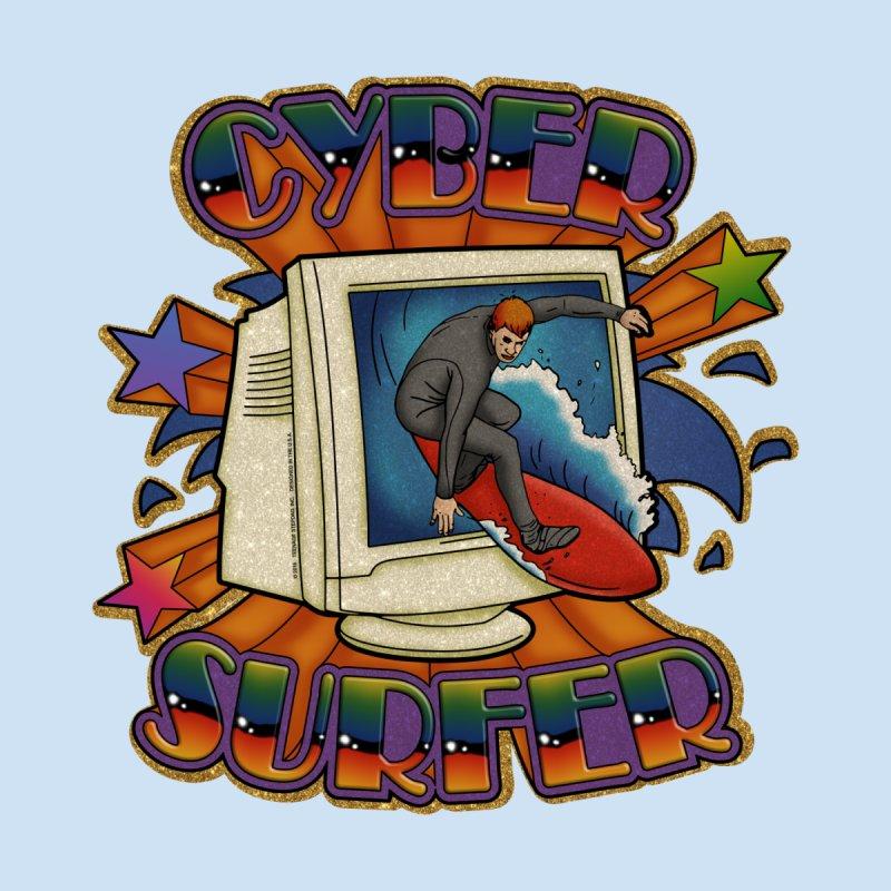 CYBER SURFER Men's T-Shirt by Teenage Stepdad Shop | 90s Inspired Apparel