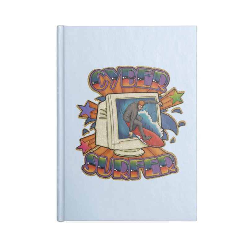 CYBER SURFER Accessories Notebook by Teenage Stepdad