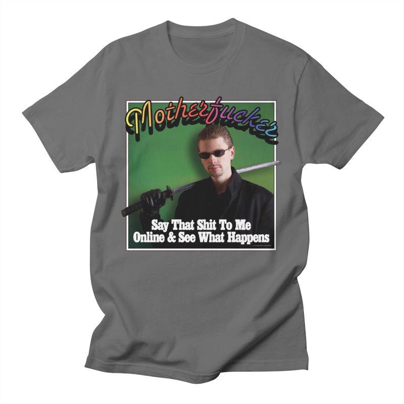 TOUGHER ONLINE Men's T-Shirt by Teenage Stepdad Shop | 90s Inspired Apparel