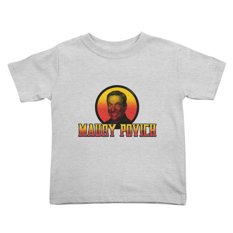 MAURY KOMBAT Kids Toddler T-Shirt by Teenage Stepdad