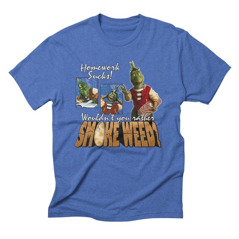 HOMEWORK SUCKS Men's T-Shirt by Teenage Stepdad