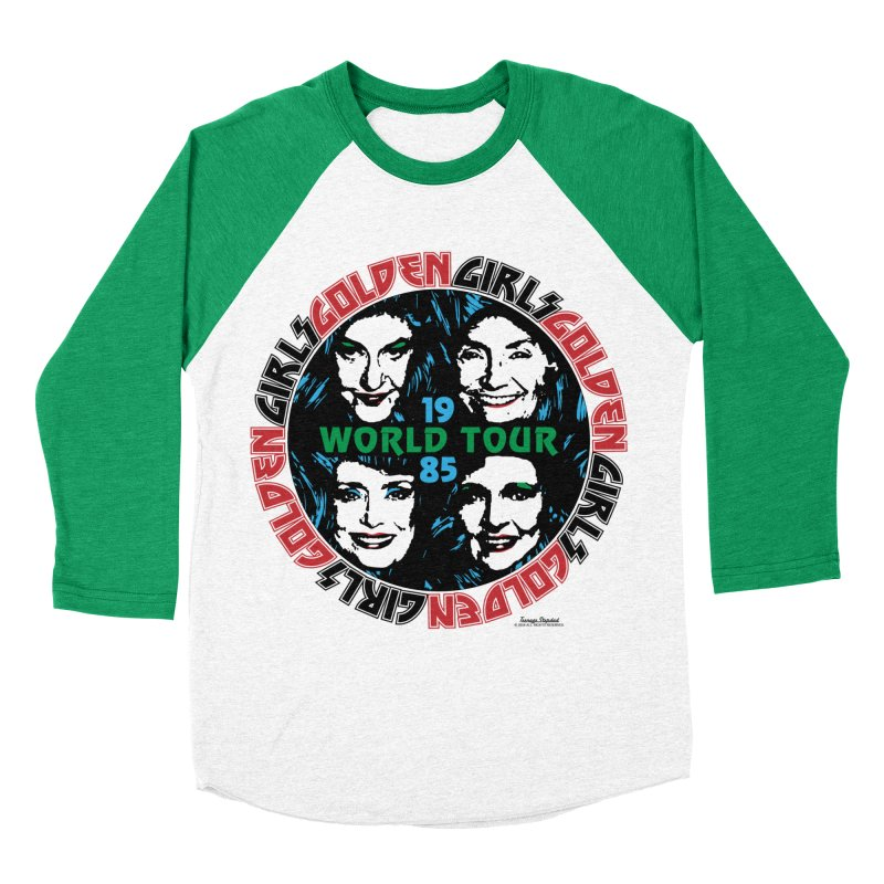 GOLDEN GIRLS WORLD TOUR 1985 in Men's Baseball Triblend Longsleeve T-Shirt Tri-Kelly Sleeves by Teenage Stepdad