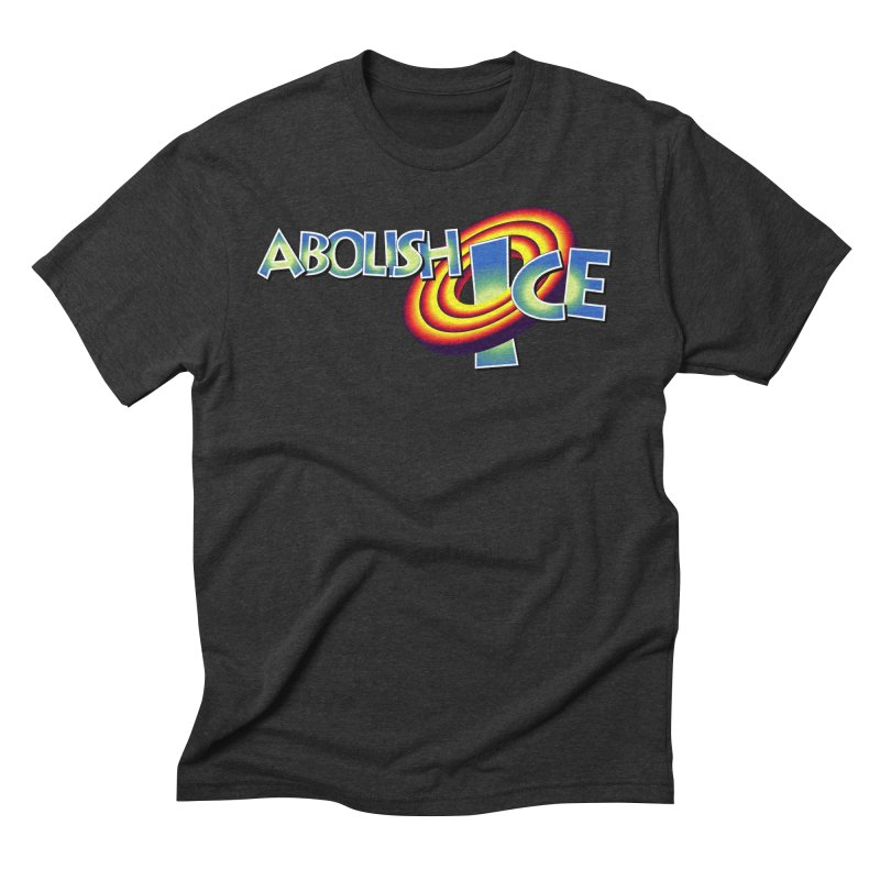 ABOLISH I.C.E. Space Jam in Men's Triblend T-Shirt Heather Onyx by Teenage Stepdad