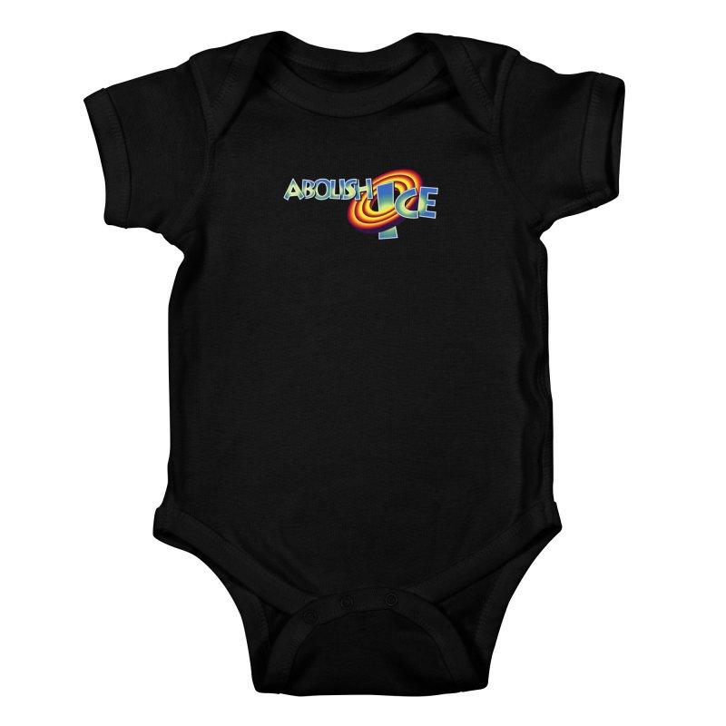 ABOLISH I.C.E. Space Jam Kids Baby Bodysuit by Teenage Stepdad