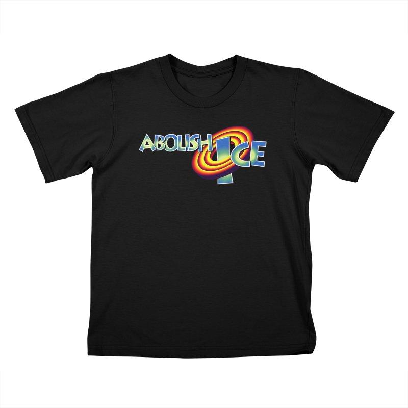 ABOLISH I.C.E. Space Jam Kids T-Shirt by Teenage Stepdad