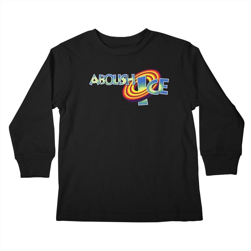 ABOLISH I.C.E. Space Jam Kids Longsleeve T-Shirt by Teenage Stepdad