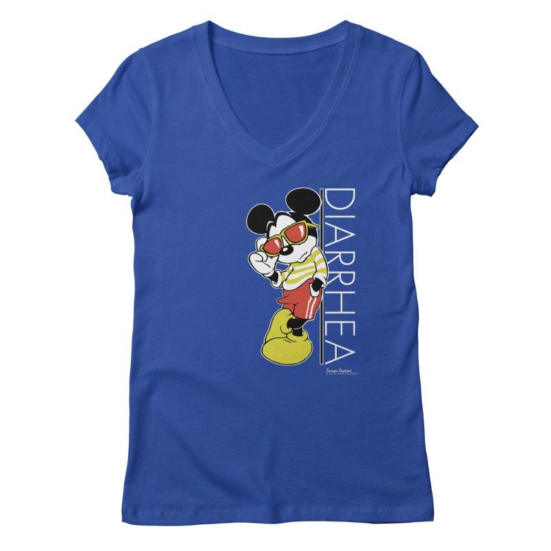 DIARRHEA Women's Regular V-Neck by Teenage Stepdad