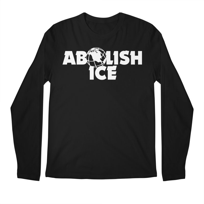 ABOLISH I.C.E. Wayne's World in Men's Regular Longsleeve T-Shirt Black by Teenage Stepdad