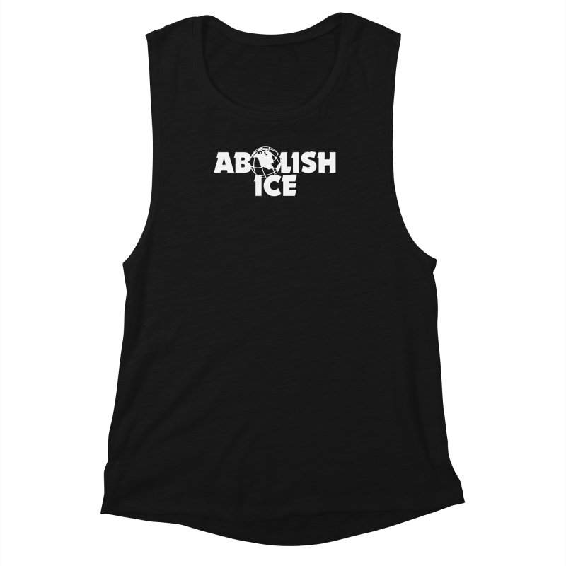 ABOLISH I.C.E. Wayne's World Women's Muscle Tank by Teenage Stepdad