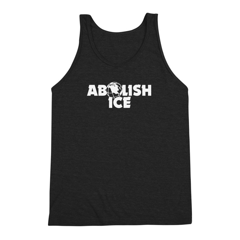 ABOLISH I.C.E. Wayne's World Men's Triblend Tank by Teenage Stepdad