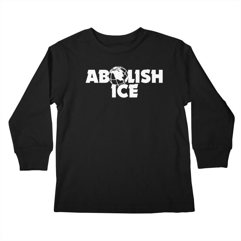 ABOLISH I.C.E. Wayne's World Kids Longsleeve T-Shirt by Teenage Stepdad