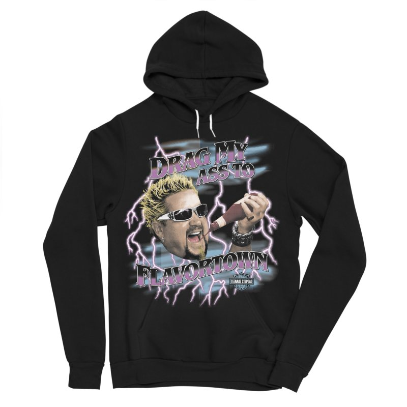 HIGHWAY TO FLAVORTOWN Women's Sponge Fleece Pullover Hoody by Teenage Stepdad