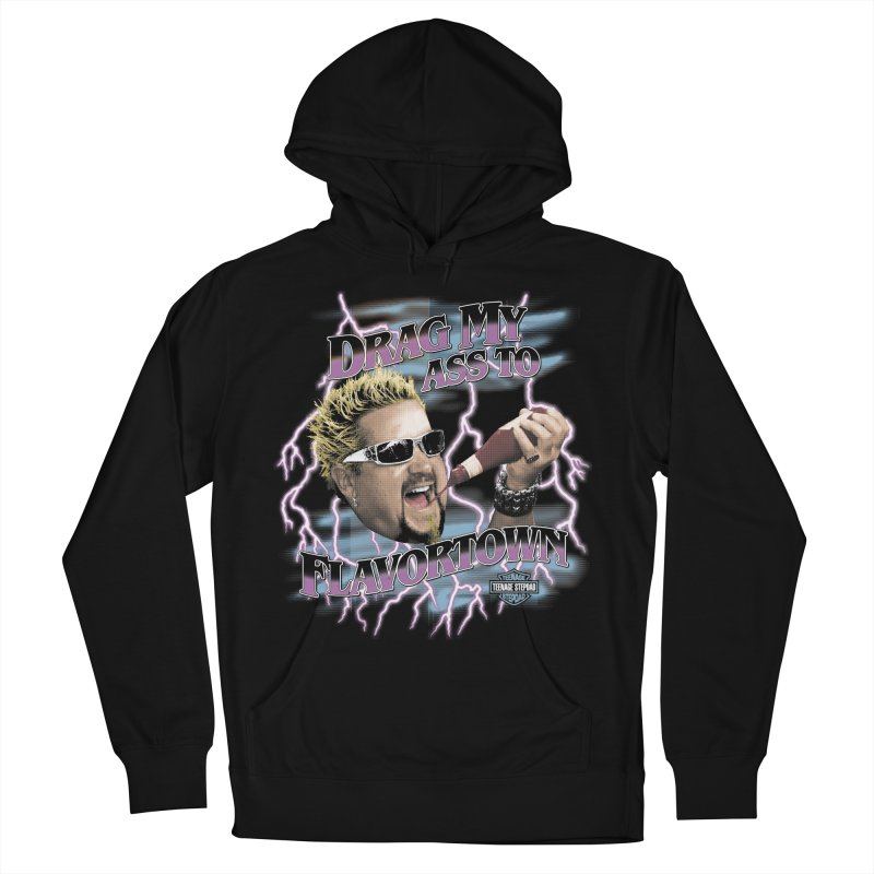 HIGHWAY TO FLAVORTOWN Men's French Terry Pullover Hoody by Teenage Stepdad