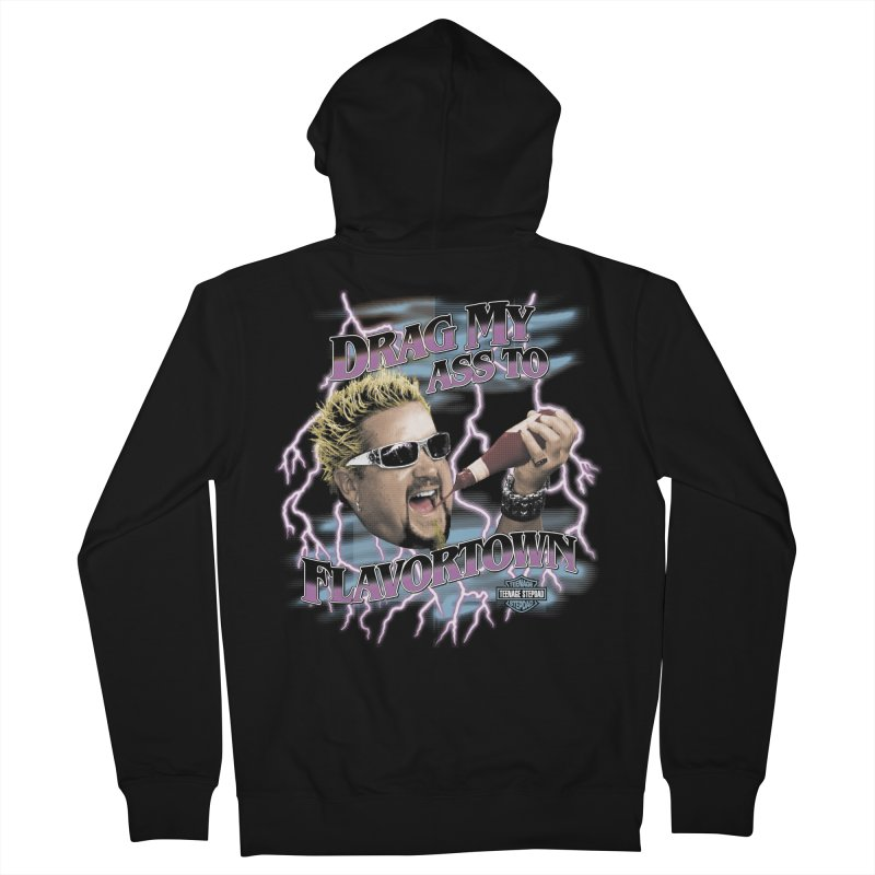 HIGHWAY TO FLAVORTOWN Women's French Terry Zip-Up Hoody by Teenage Stepdad