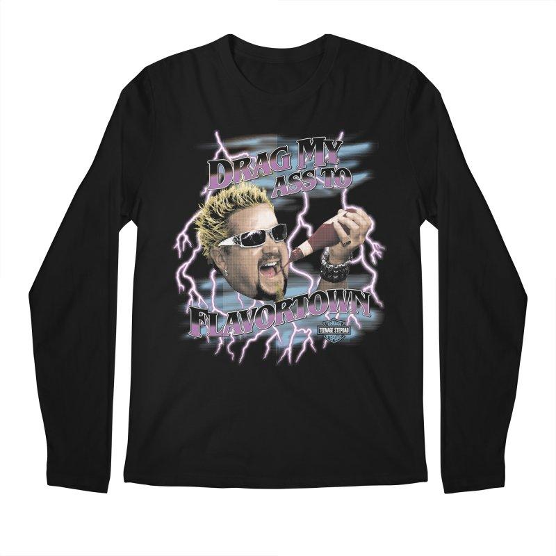 HIGHWAY TO FLAVORTOWN Men's Regular Longsleeve T-Shirt by Teenage Stepdad