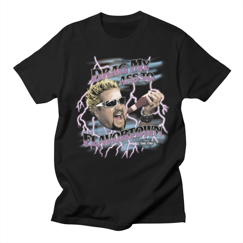 HIGHWAY TO FLAVORTOWN in Men's Regular T-Shirt Black by Teenage Stepdad