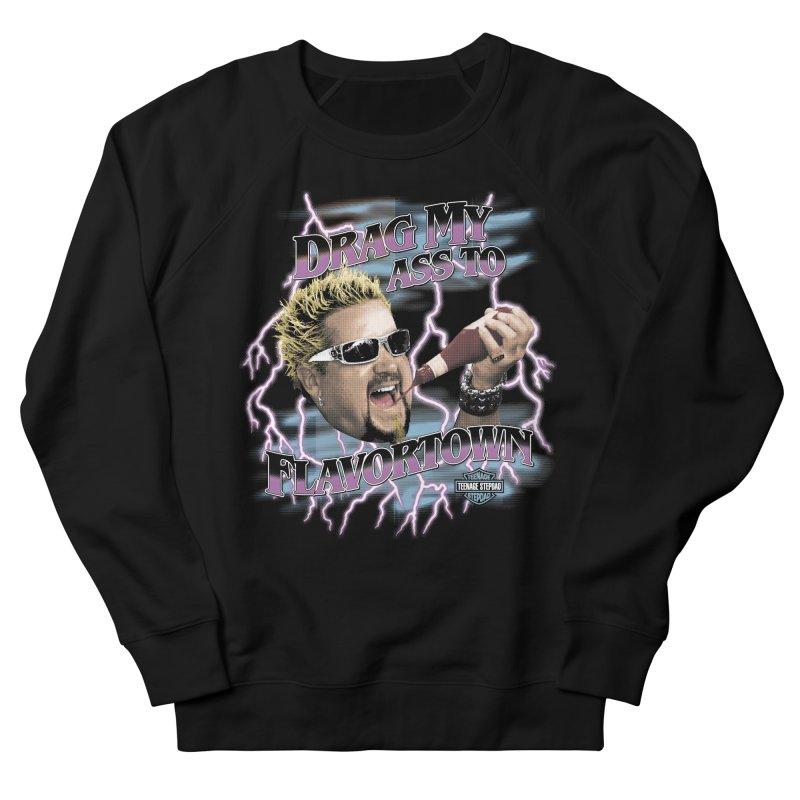 HIGHWAY TO FLAVORTOWN Women's French Terry Sweatshirt by Teenage Stepdad