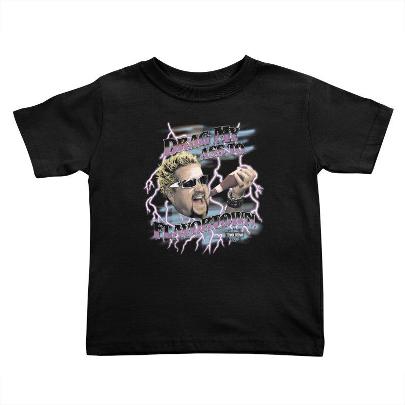 HIGHWAY TO FLAVORTOWN Kids Toddler T-Shirt by Teenage Stepdad